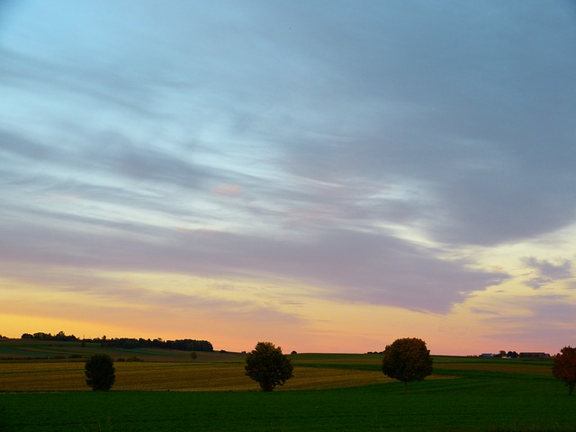landscape, abendstimmug, sunset, sky, evening sky