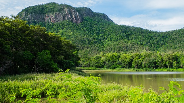 landscape, mountains, see, north thailand