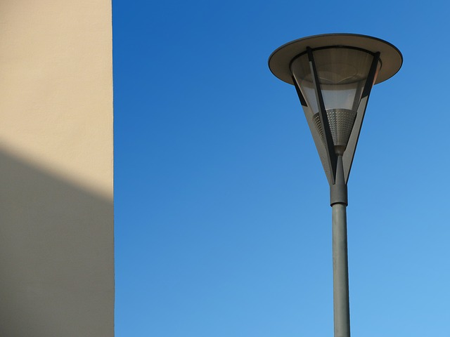 lantern, lamp, street lamp, colors, blue, object