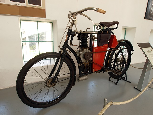 laurin and klement 1903, cycle, motorcycle, old
