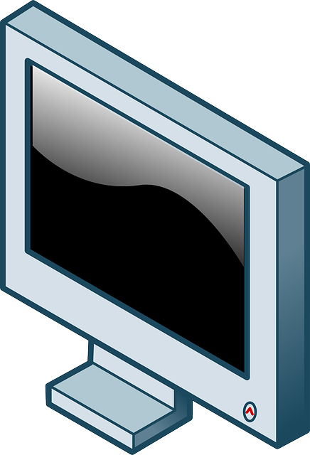 lcd, screen, flat, icon, panel, isometric