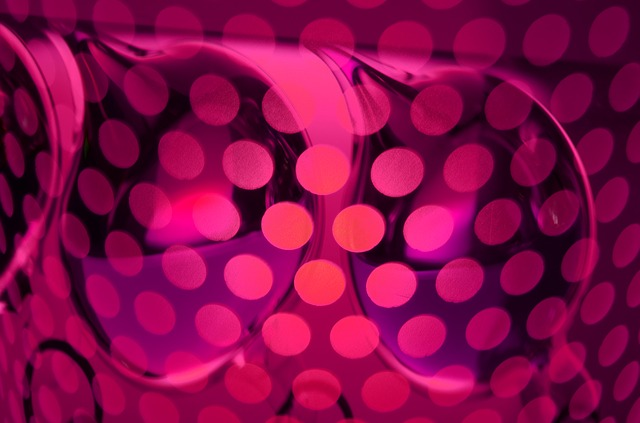 light, points, pink, lamp, modern, abstract