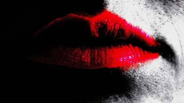 lips, kiss, lighting, effect, red, background, fining