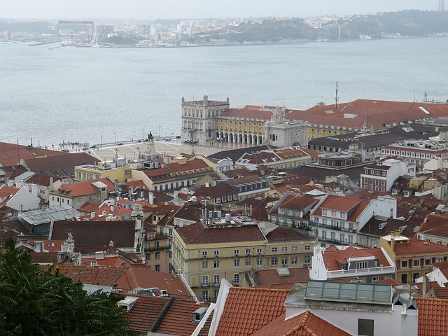 lisbon, old town, portugal, architecture, outlook, view