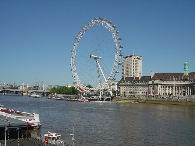 london, eye, wheel, water, river, thames, uk, england