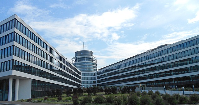 luxembourg, buildings, sky, clouds, offices, business