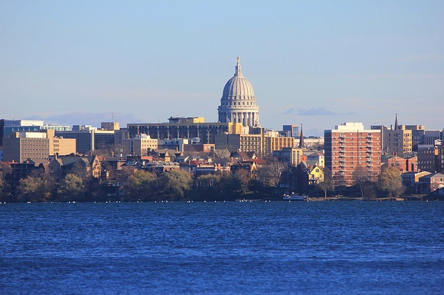 madison, wisconsin, buildings, urban, skyline