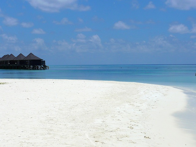 maldives, beach, ocean, holiday, sky, nature, romantic