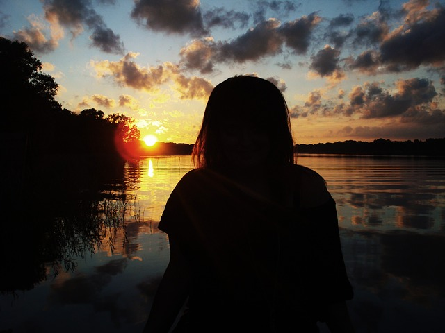 man, person, girl, sunset, water, brandenburg, gilbert