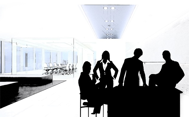 man, woman, silhouette, businessmen, economy