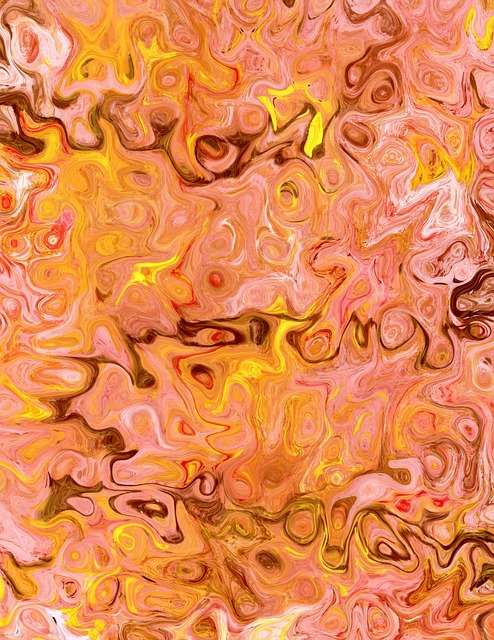 marbled, paper, abstract, art, design, crafts