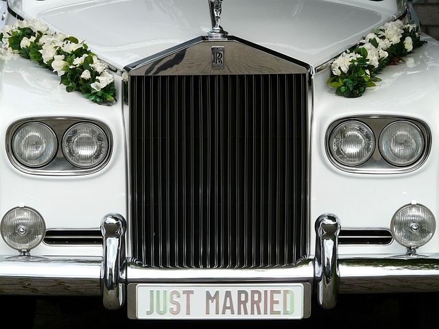 marry, bridal car, marriage, wedding, auto, cooler