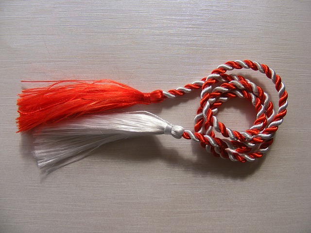 martisor, red, rope, white, objects, spring