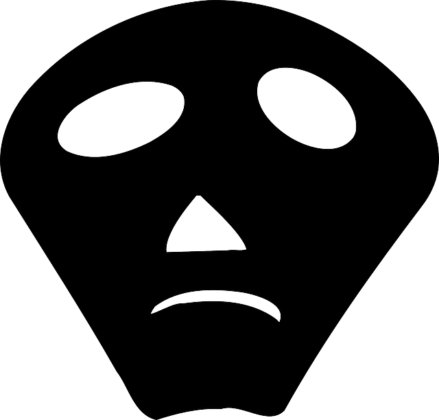 mask, face, black, silhouette, avatar