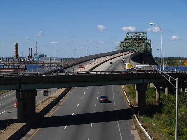 massachusetts, sky, clouds, bridge, highway, freeway