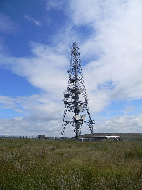 mast, radio, hill, countryside, yorkshire, landscape