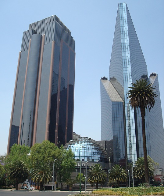 mexico, city, building, skyscrapers, high, rise, towers