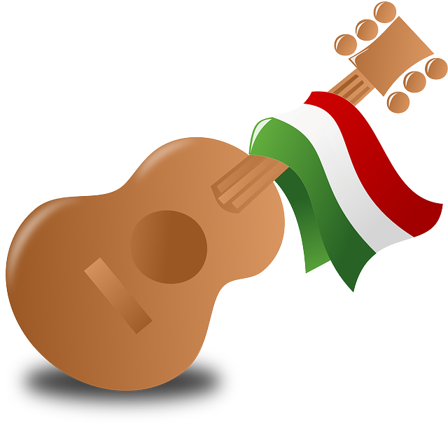 mexico, guitar, music, party, celebrate, flag
