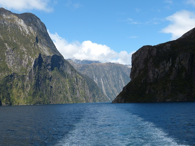 milford, sound, new zealand, landscape, gorge, nature