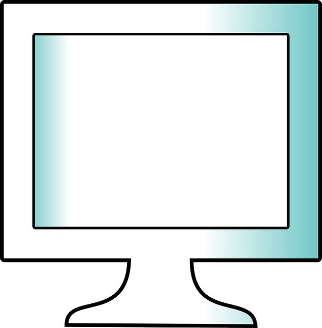 monitor, computer, screen, flat, office, hardware