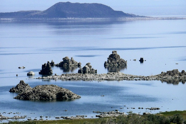 mono lake, california, usa minerals, water, flat