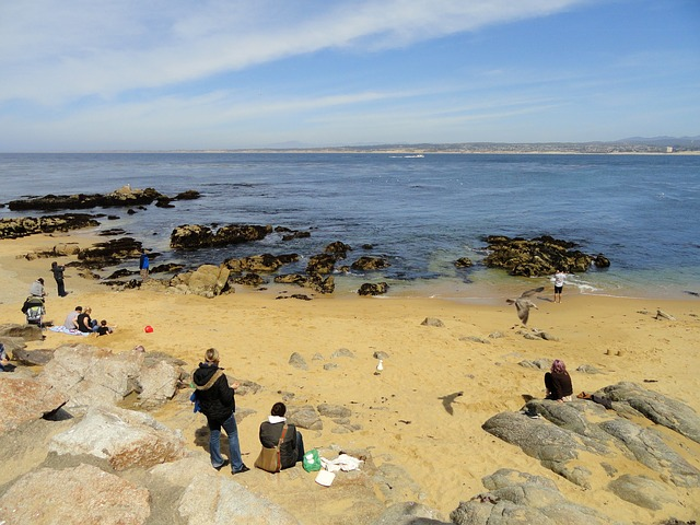 monterey, california, sea, ocean, water, sky, clouds