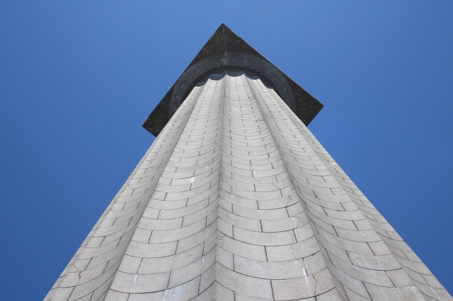 monument, column, tall, upward, looking up, height