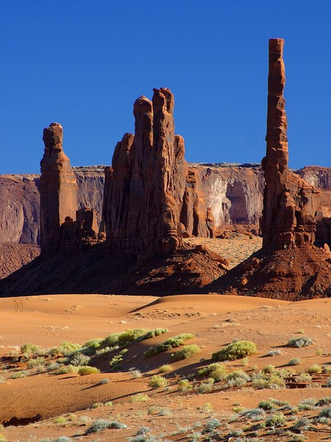 monument valley, towers, rocky towers, pointed, erosion