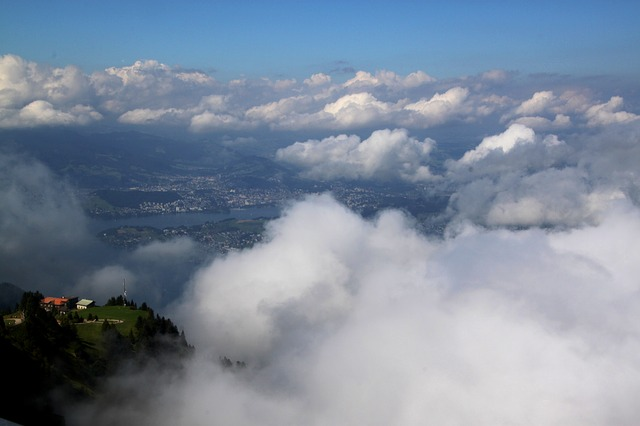 mood, clouds, sky, weather, rigi, mountains, landscape