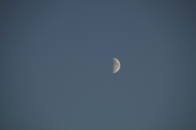 moon, crescent, sky, evening sky, evening, sickle
