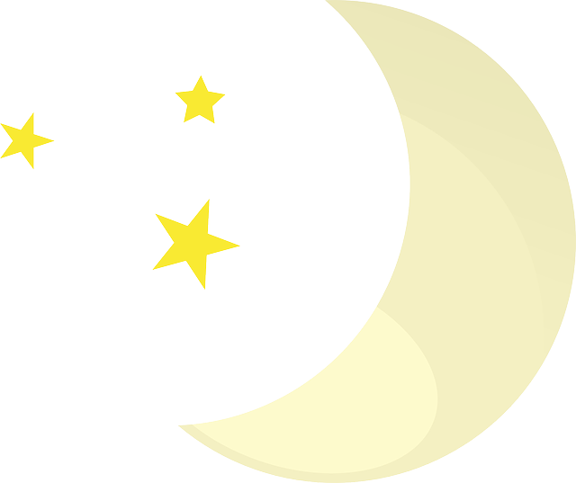 moon, stars, night, clear, weather, weather forecast