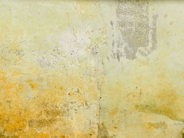 mortar, wall, aged, yellow, brown, crack, texture
