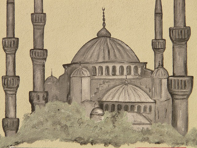mosque, minaret, image, drawing, islam, think, religion