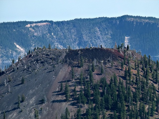 mt mazama, crater lake, oregon, usa, volcano, scenery