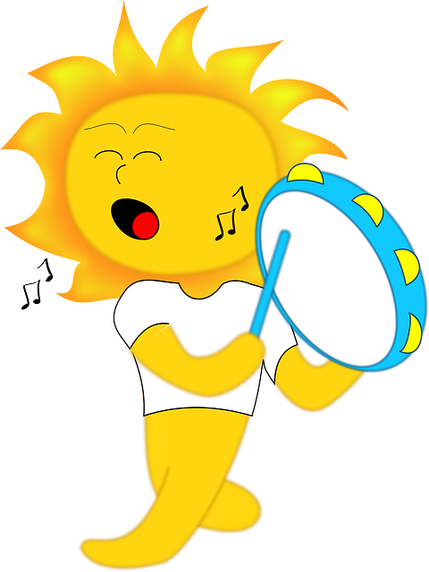 music, drum, kids, sun, children, playing, sol, walking