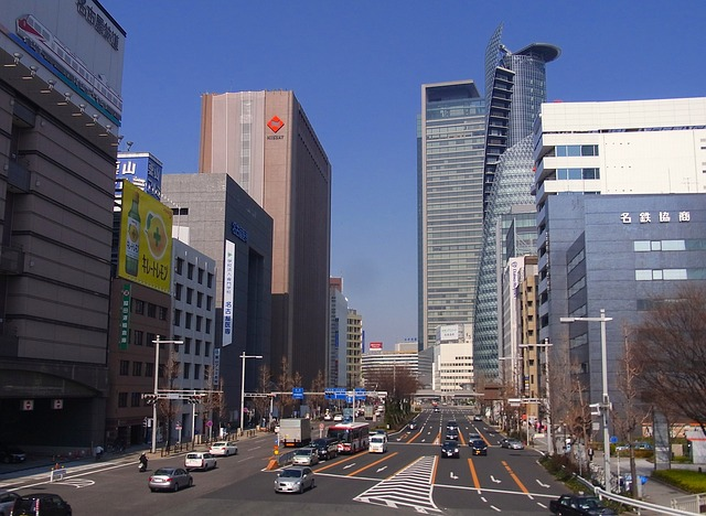 nagoya city, japan, skyscrapers, skyline, buildings