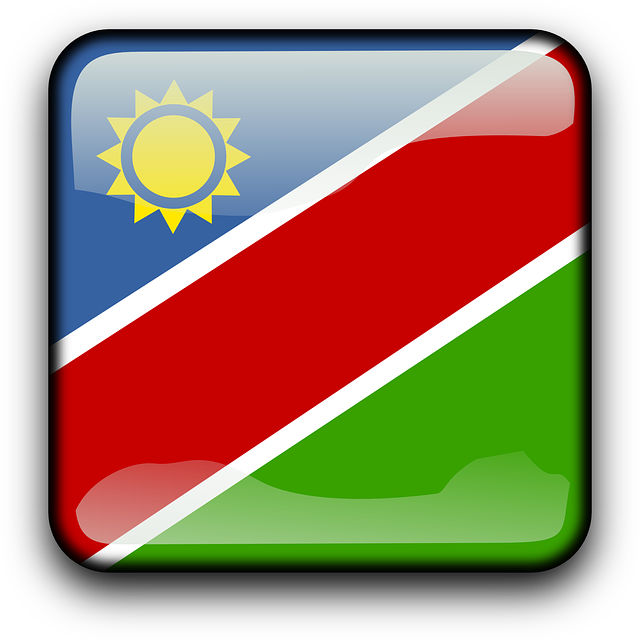 namibia, flag, country, nationality, square, button