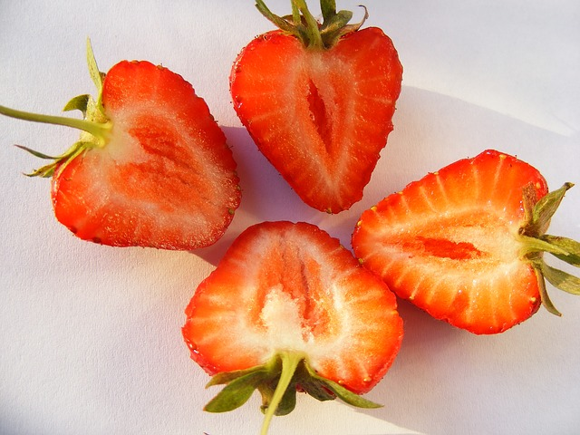 nature, fruits, and, vegetables, strawberry, piece