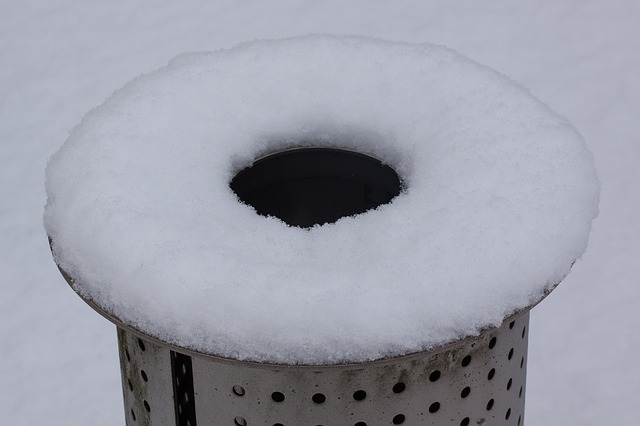 new zealand, snow, waste bins, about, white, black