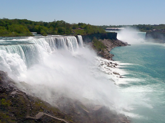 niagara falls, buffalo, usa, waterfall, water