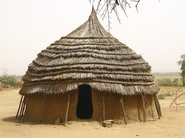 niger, africa, hut, home, house, mud, straw, village