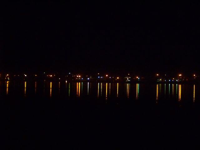 night, darkness, at night, reflection, lights