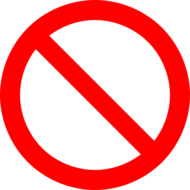 no driving, prohibited, forbidden, not allowed