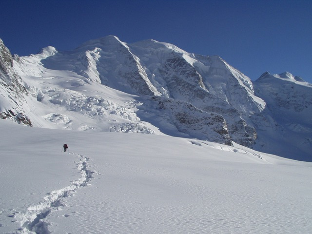 north wall, piz palu, bumiller pillar, alpine