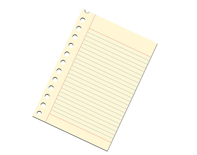 note paper, notepad, ruled, lined, paper, sheet