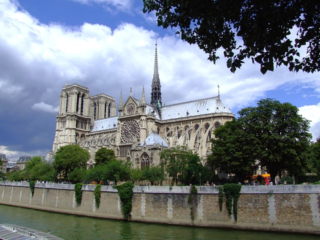 notre dame, cathedral, paris, france, catholic, sky