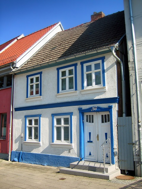 nuebrandenburg, germany, house, home, colorful, town