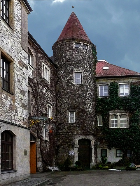 old, building, architecture, hotel, guest house