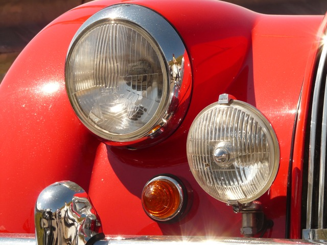 oldtimer, auto, spotlight, light