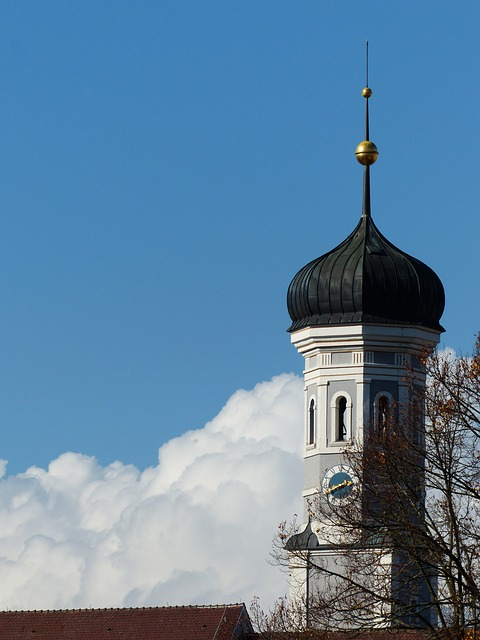 onion dome, steeple, ulm, holy trinity church, spire